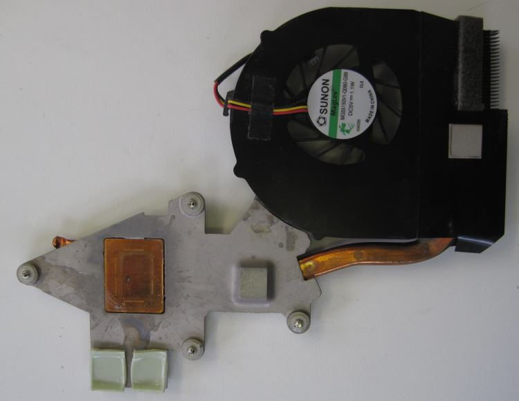Acer Aspire heatsink and fan clean