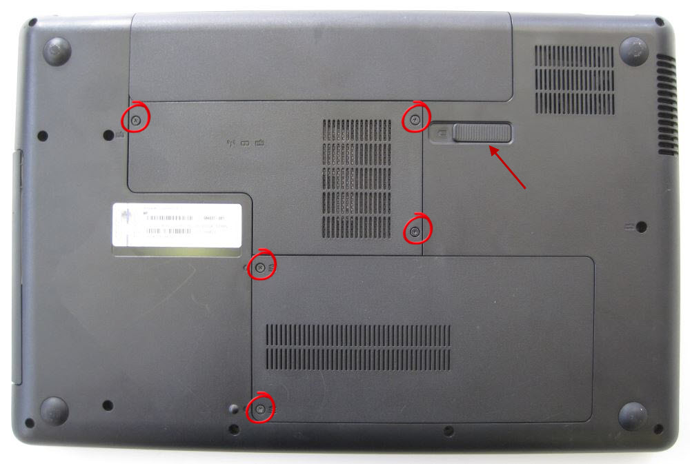 HP Compaq removing covers