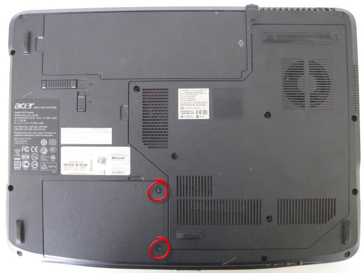 Acer Aspire 5315 Underneath