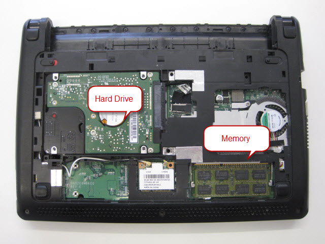 Accessing Memory And Hard Drive On An Acer Aspire One D257